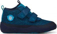 Dětské barefoot botičky Affenzahn Minimal Lowboot Knit Bear - Blue Sappore