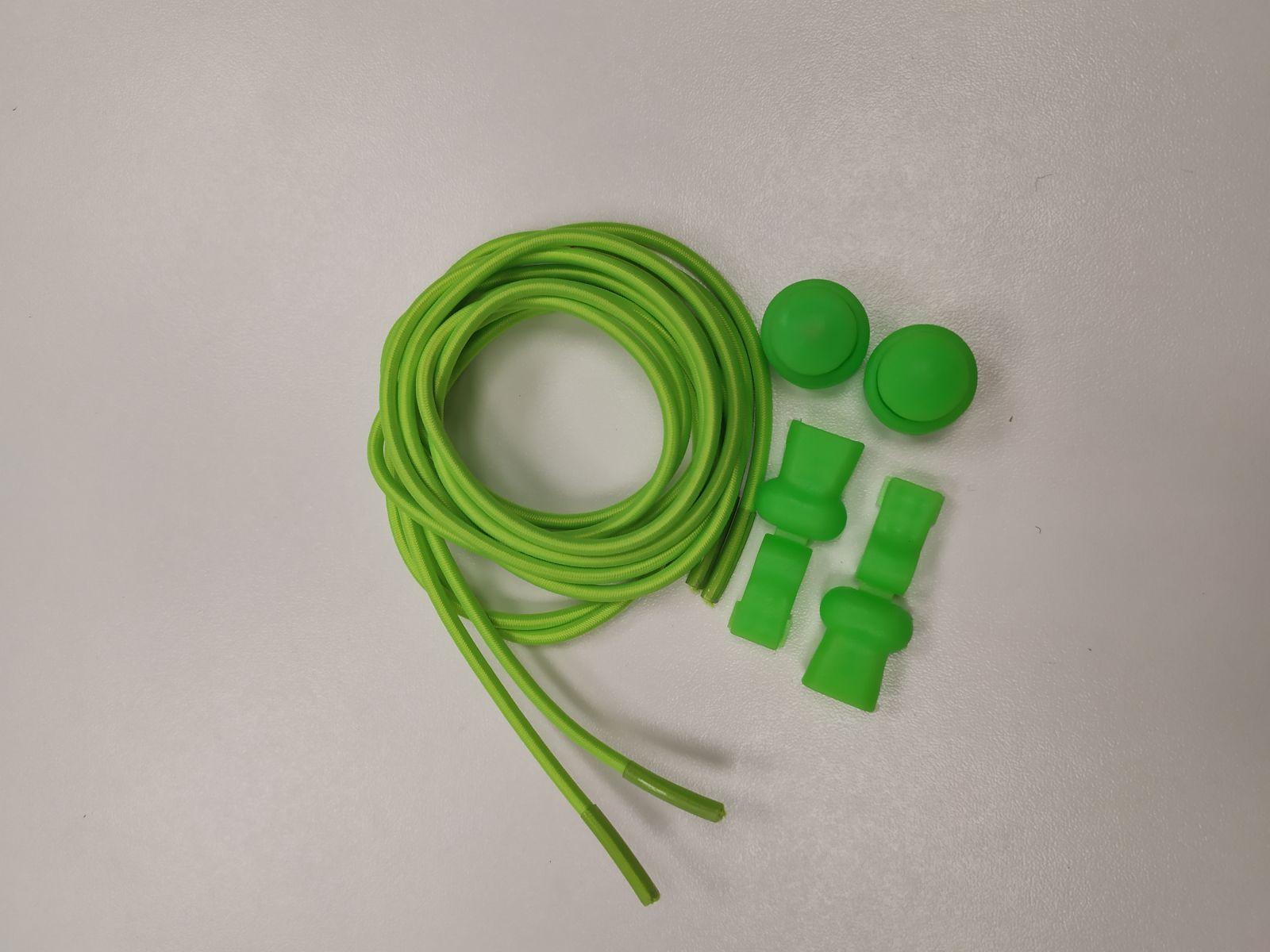 Barefoot Elastické tkaničky Easy tie zelené bosá