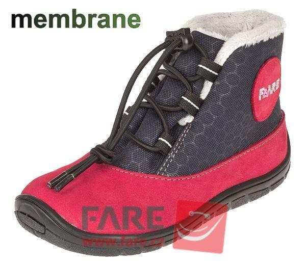 Barefoot FARE BARE DĚTSKÉ ZIMNÍ NEPROMOKAVÉ BOTY B5443241 bosá