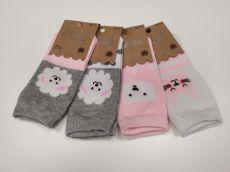 Ponožky AURA VIA - šedo-růžové