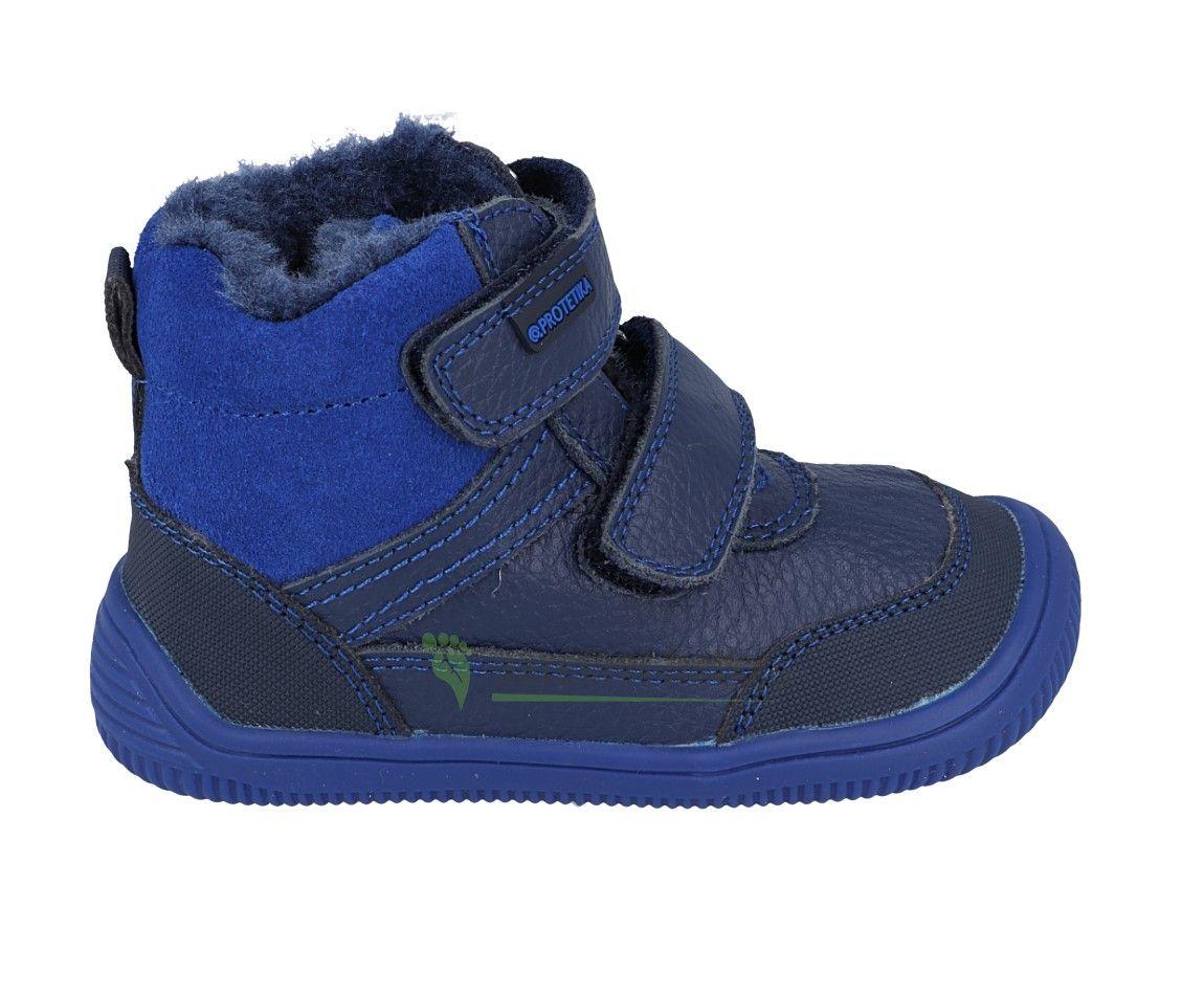 Barefoot Protetika zimní barefoot boty Tyrel blue bosá