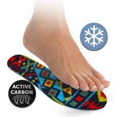 Barefoot SVORTO Stélky flís s aktivním uhlíkem bosá