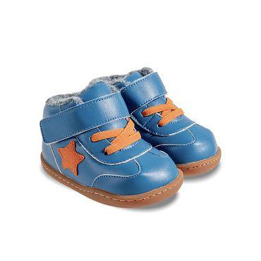 Barefoot Zimní botičky Little Blue Lamb Beck blue bosá