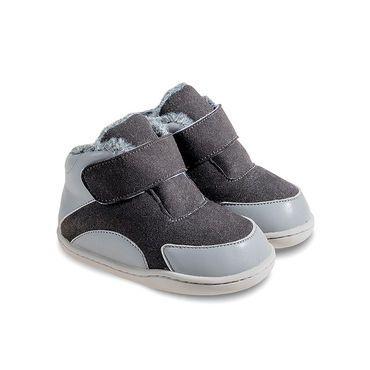 Barefoot Zimní botičky Little Blue Lamb Bony dark grey bosá