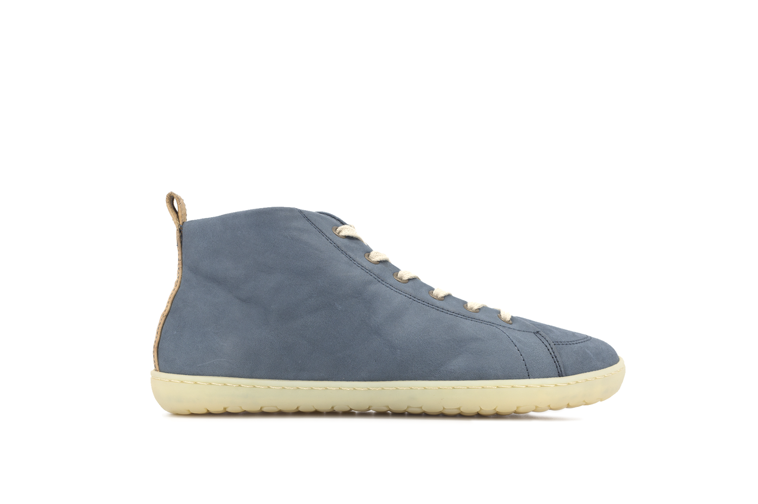 Barefoot Barefoot boty MUKISHOES High-cut RAW LAETHER Blue FW bosá