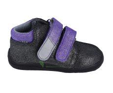 Beda Barefoot Dark violette - celoroční boty s membránou