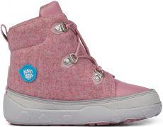 Dětské barefoot botičky Affenzahn Minimal Midboot Wool Lace Unicorn - Pink