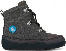 Dětské barefoot botičky Affenzahn Minimal Midboot Wool Lace Dog - Grey