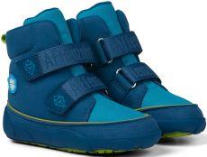 Barefoot Dětské barefoot botičky Affenzahn Minimal Midboot Vegan Shark - Maroccan Blue bosá