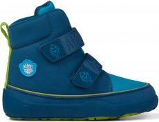 Dětské barefoot botičky Affenzahn Minimal Midboot Vegan Shark - Maroccan Blue