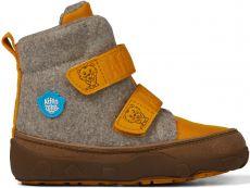 Dětské barefoot botičky Affenzahn Minimal Midboot Wool Tiger - Brown/Yellow