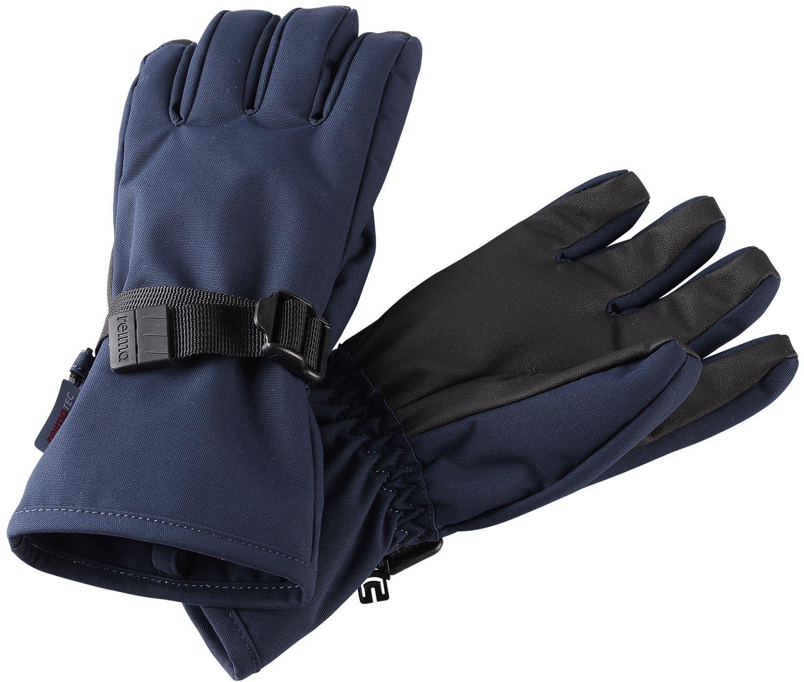 Barefoot Dětské membránové rukavice Reima Tartu - Navy bosá