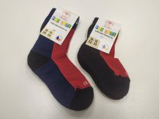 Barefoot Dětské Surtex merino ponožky froté - tenké červené bosá