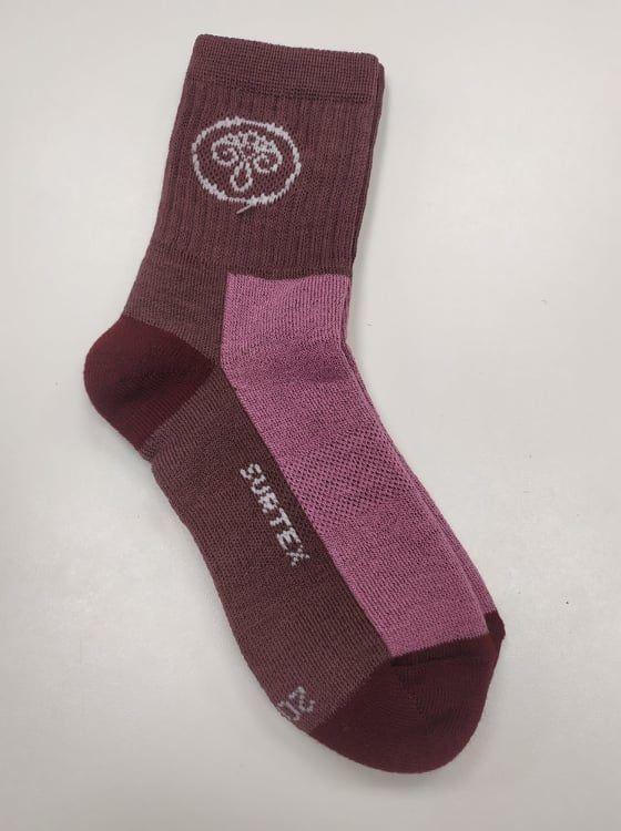 Barefoot Dětské Surtex merino sportovní ponožky froté - fialkové bosá