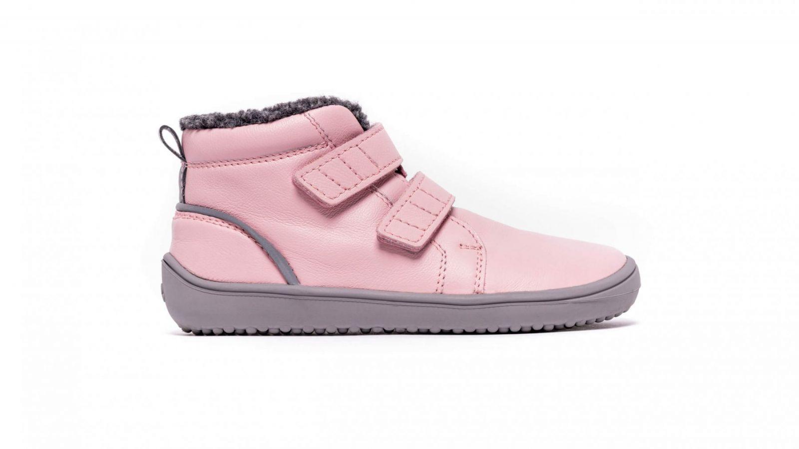 Barefoot Dětské zimní barefoot boty Be Lenka Penguin - Pink bosá