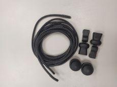 Elastické tkaničky Easy tie černé s bílými proužky