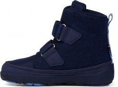 Barefoot ětské barefoot botičky Affenzahn Minimal Midboot Wool Bear - Blue bosá