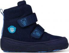 Dětské barefoot botičky Affenzahn Minimal Midboot Wool Bear - Blue