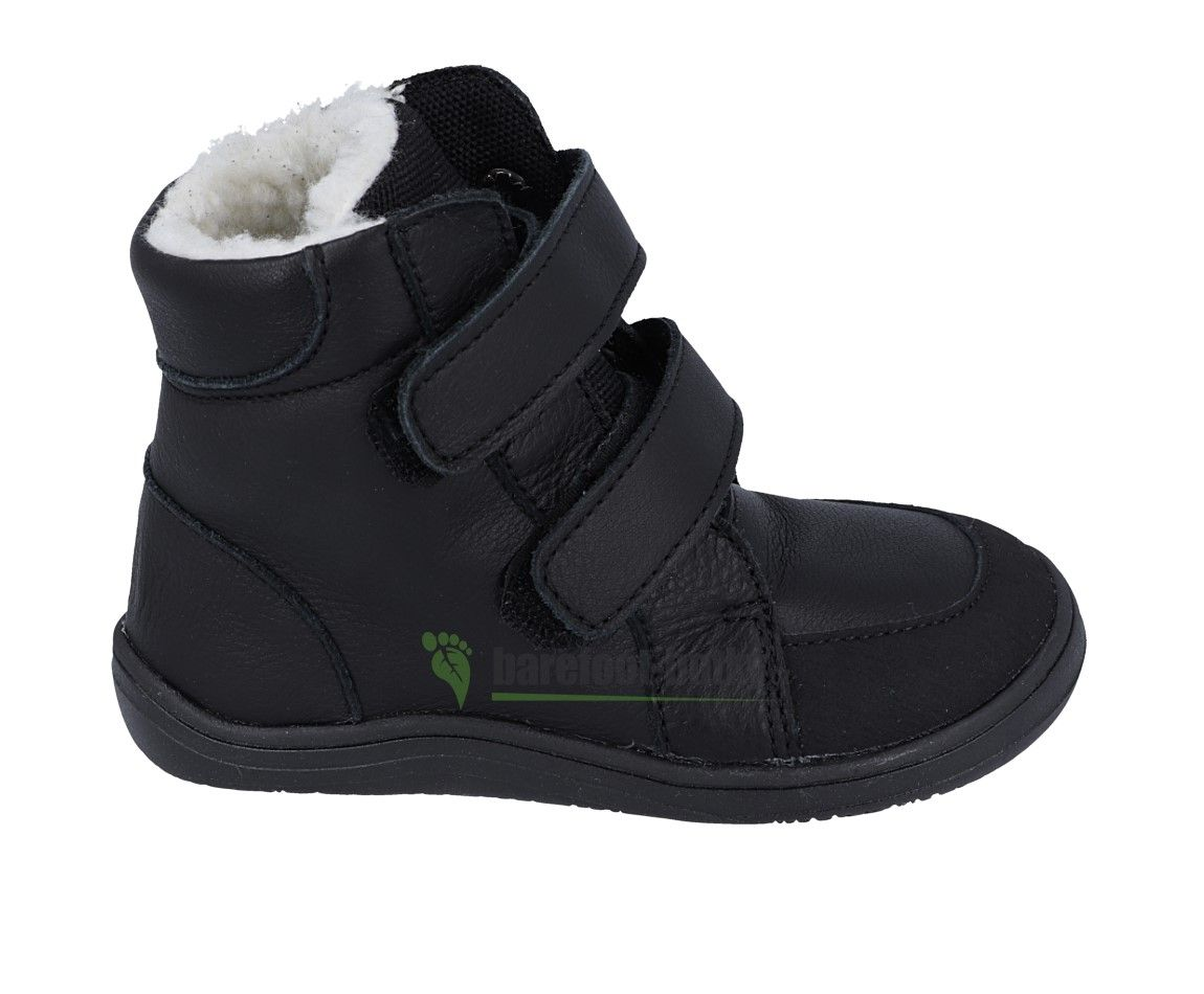 Barefoot BABY BARE WINTER BLACK OKOP ASFALTICO BABY BARE SHOES bosá