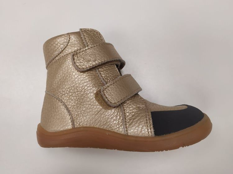 Barefoot BABY BARE WINTER Gold OKOP ASFALTICO BABY BARE SHOES bosá
