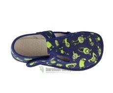 Barefoot Beda barefoot - bačkorky suchý zip - příšerky bosá