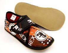 Barefoot Ef barefoot papučky 394 TREX black bosá