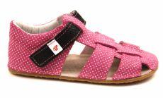 Ef barefoot sandálky - růžové s černou