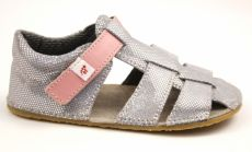 Ef barefoot sandálky - stříbrné