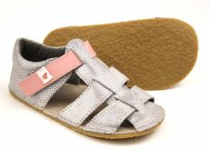 Barefoot Ef barefoot sandálky - stříbrné bosá