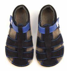 Barefoot Ef barefoot sandálky - tmavě modré bosá