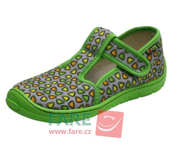 Barefoot FARE BARE DĚTSKÉ PAPUČE NA SUCHÝ ZIP 5102462 bosá