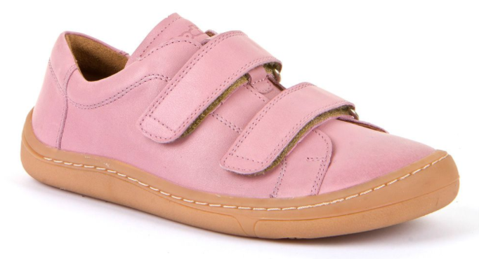 Barefoot Froddo barefoot celoroční boty pink - 2 suché zipy bosá