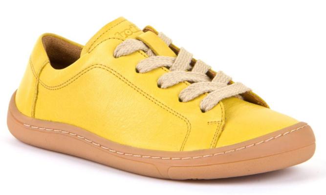 Barefoot Froddo barefoot celoroční boty yellow - tkaničky bosá