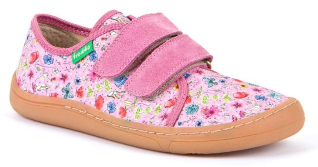 Barefoot Froddo barefoot tenisky pink louka bosá