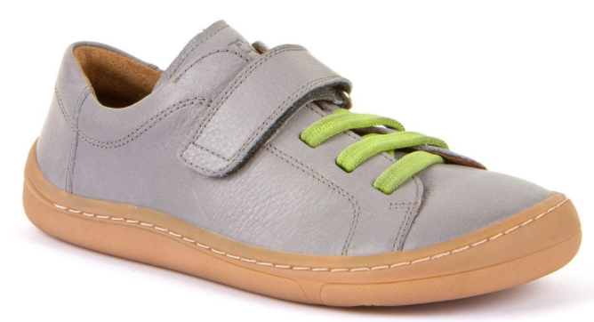 Barefoot Froddo celoroční barefoot boty light grey - 1 suchý zip bosá