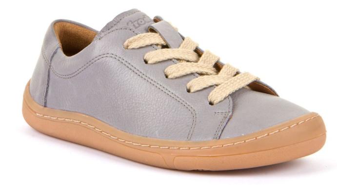 Barefoot Froddo celoroční barefoot boty light grey - tkaničky bosá
