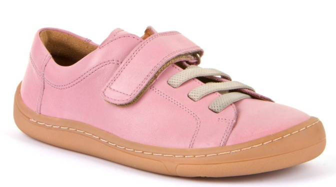 Barefoot Froddo celoroční barefoot boty pink - 1 suchý zip bosá