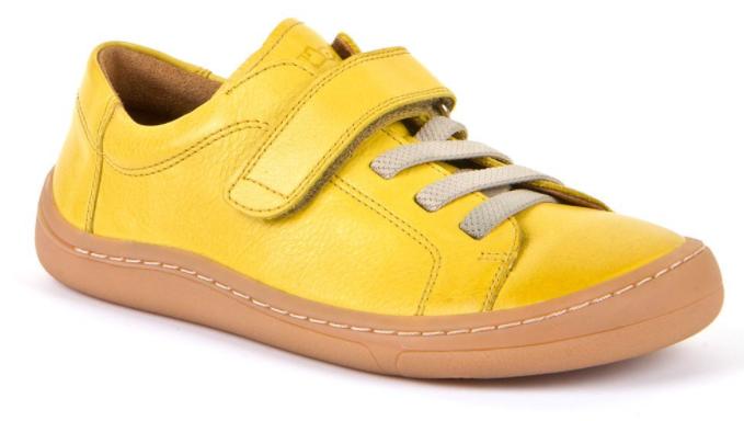 Barefoot Froddo celoroční barefoot boty yellow - 1 suchý zip bosá