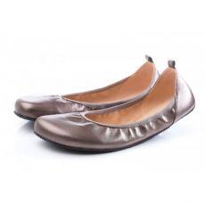 Barefoot SHAPEN Barefoot balerínky TULIP II Bronze bosá