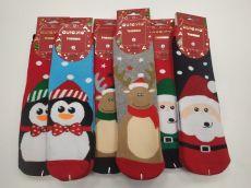Termo ponožky vánoční s obrázky - dámské