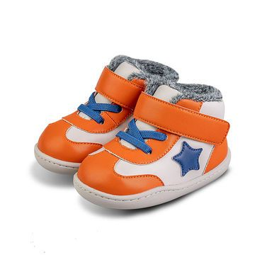 Barefoot Zimní botičky Little Blue Lamb Beck orange bosá