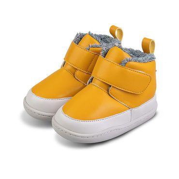 Barefoot Zimní botičky Little Blue Lamb Big yellow bosá