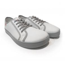 Barefoot Barefoot tenisky Anatomic bílé s šedou podrážkou - mesh bosá