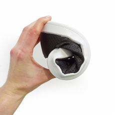Barefoot Barefoot tenisky Anatomic černé s bílou podrážkou - mesh bosá