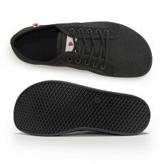 Barefoot Barefoot tenisky Anatomic černé s černou podrážkou - mesh bosá
