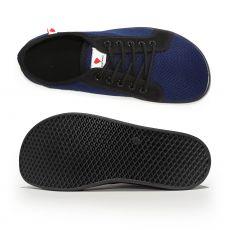 Barefoot Barefoot tenisky Anatomic modré s černou podrážkou - mesh bosá