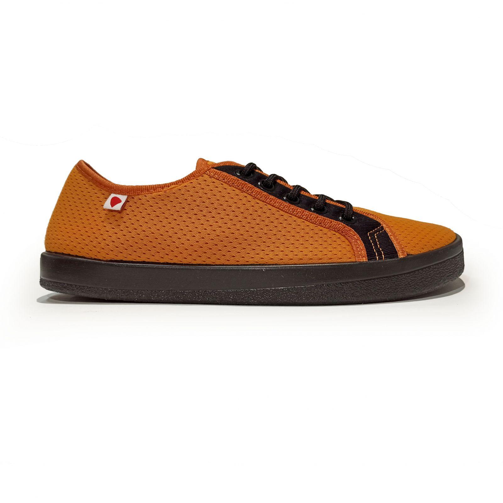 Barefoot Barefoot tenisky Anatomic oranžové s černou podrážkou - mesh bosá
