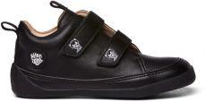 Dětské barefoot botičky Affenzahn Lowcut Leather Panther-Triple Black