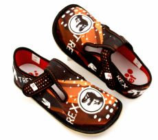 Barefoot Ef barefoot papučky 395 TREX black bosá
