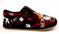 Ef barefoot papučky 395  TREX black